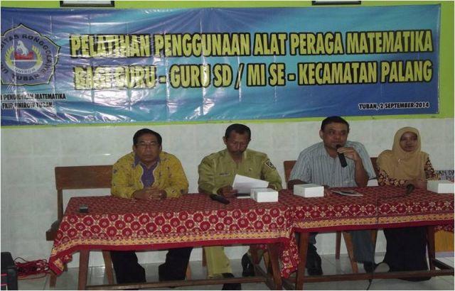 Sambutan Kepala UPTD Dikpora Kecamatan Palang sekaligus Membuka Kegiatan Pelatihan Penggunaan Alat Peraga Bagi Guru-Guru SD/MI Se-Kecamatan Palang