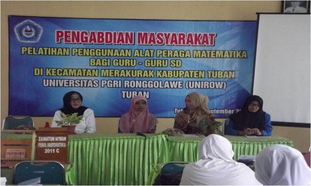 Sambutan Ketua Pelaksana Pelatihan Penggunaan Alat Peraga Matematika bagi Guru/Guru SD/MI Se-Kecamatan Merakurak