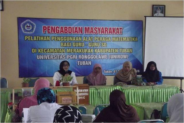 Sambutan Kepala UPTD Dikpora Kecamatan Merakurak sekaligus Membuka Kegiatan Pelatihan Penggunaan Alat Peraga bagi Guru-Guru SD/MI Se-Kecamatan Merakurak